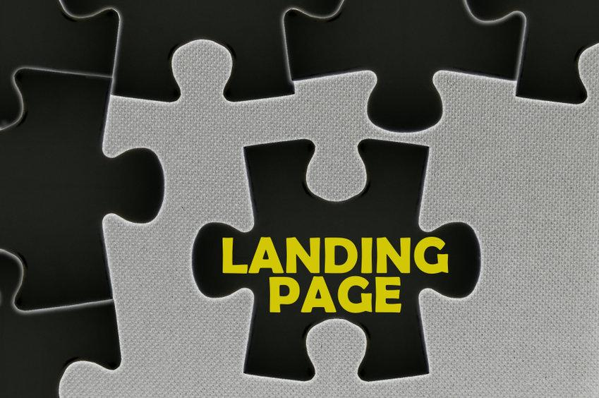 jigsaw puzzle written word landing page